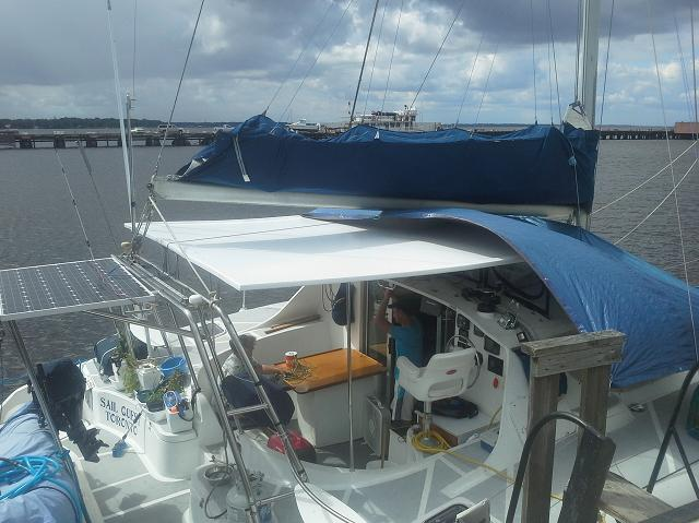 The new hardtop bimini is finished and installed.