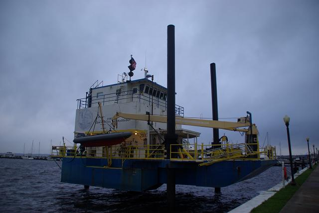 the Polly-L, a marine archaeology dive vessel that uses Reynolds as her home port has stopped treasure hunting operations and returned here