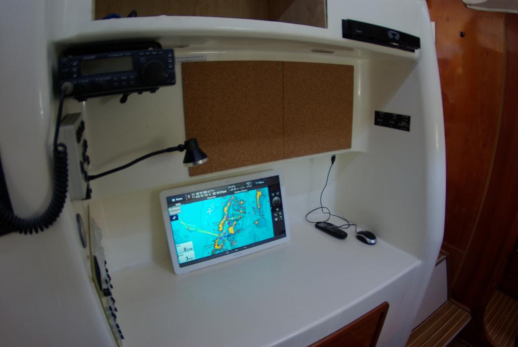 Nav station in port hull.