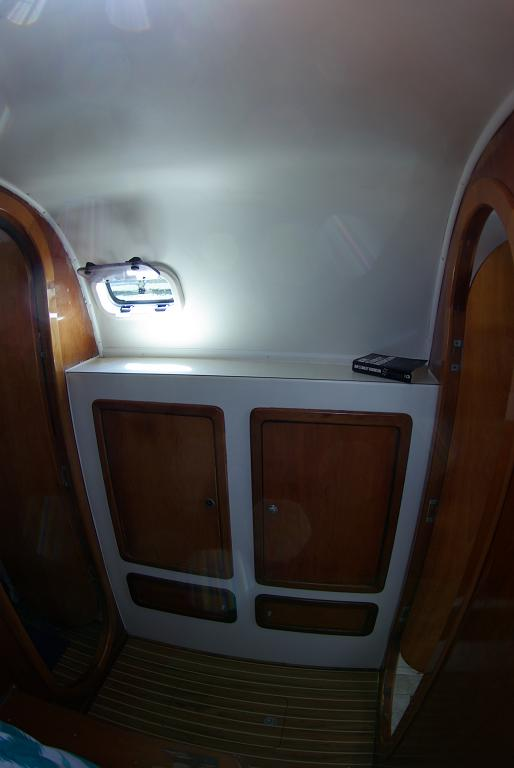 Port forward cabin storage and port light